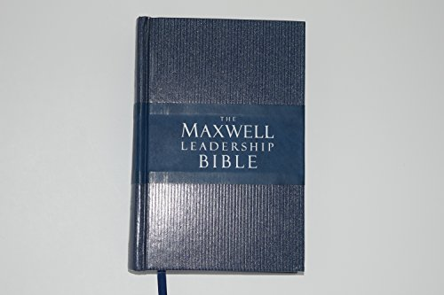 NKJV Maxwell Leadership Bible-Blue/Gray LeatherSoft: John Maxwell