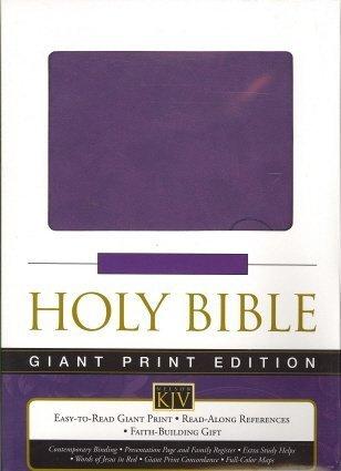 9780718027841: Holy Bible Giant Print KJV Grape Leathersoft (King James Version)