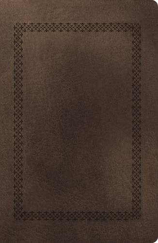 NKJV, End-of-Verse Reference Bible, Giant Print, Personal Size, Imitation Leather, Brown, Red Letter
