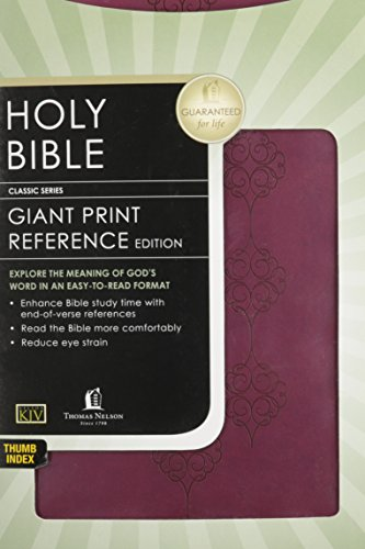 9780718038014: Holy Bible: King James Version, Deep Rose Leathersoft, Giant Print Reference (Classic)