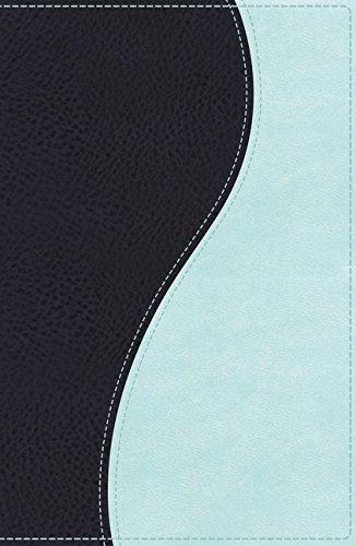 9780718040468: NKJV, Ultraslim Bible, Imitation Leather, Navy/Light Blue, Red Letter Edition (Classic)