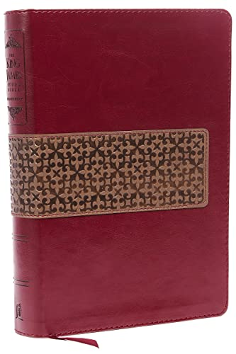 9780718040598: KJV Study Bible, Imitation Leather, Maroon/Brown, Indexed, Red Letter Edition: Second Edition (Signature)