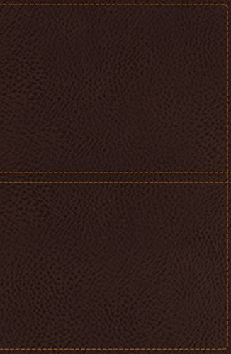 9780718041113: KJV, Reference Bible, Giant Print, Imitation Leather, Brown, Indexed, Red Letter Edition (Classic)
