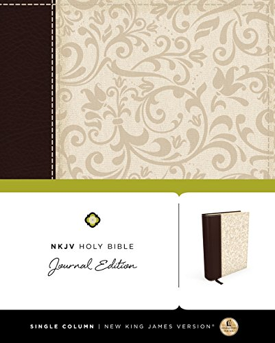 9780718080488: NKJV, Holy Bible, Journal Edition, Imitation Leather, Brown/Cream, Red Letter Edition