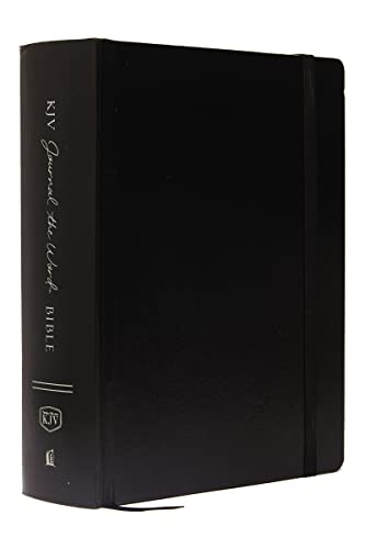 9780718090791: KJV, Journal the Word Bible, Large Print, Hardcover, Black, Red Letter Edition: Reflect, Journal, or Create Art Next to Your Favorite Verses