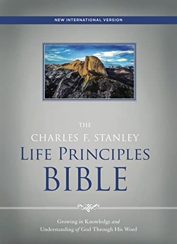 9780718097042: NIV, the Charles F. Stanley Life Principles Bible, Hardcover, Red Letter Edition