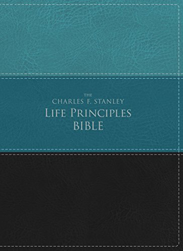 9780718097172: NIV, The Charles F. Stanley Life Principles Bible, Leathersoft, Green/Black