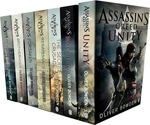 9780718182496: 7 Books: Assassin's Creed Book Set - Renaissance, Brotherhood, Secret Crusade, Revelations, Forsaken, Black Flag, Unity