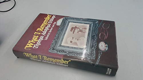 What I remember Herbert Van Thal: Trollope, Thomas Adolphus