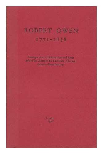 9780718700027: Robert Owen, 1771-1858: Catalogue