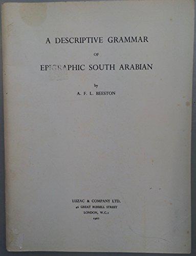 9780718901561: Descriptive Grammar of Epigraphic South Arabian