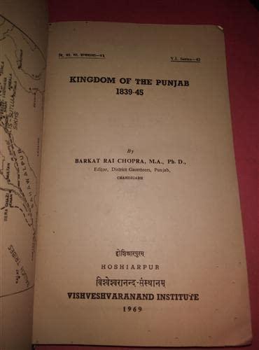 9780718920494: Kingdom of Punjab, 1839-45
