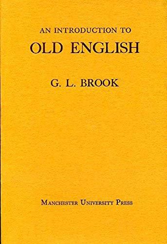 9780719005695: An Introduction to Old English