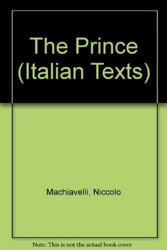 9780719007422: Machiavelli : Il Principe (De Principatibus : Italian Text)