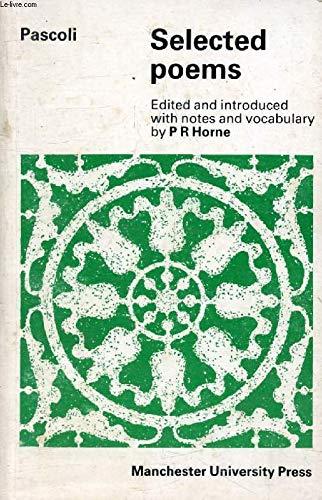 Selected Poems (Italian Texts): Giovanni Pascoli