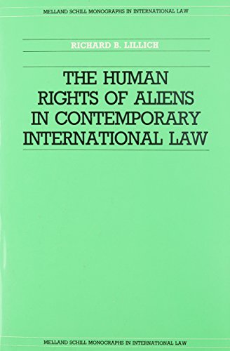 9780719009143: The Human Rights of Aliens in Contemporary International Law (Melland Schill Monographs in International Law)