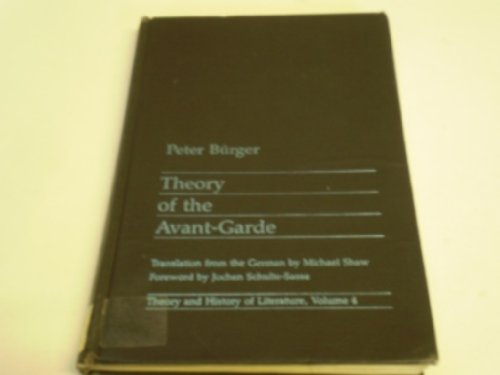 9780719014536: Theory of the Avant-garde (Theory and history of literature)