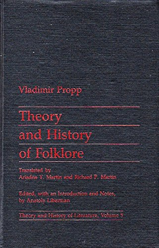 9780719014604: Theory and History of Folklore (Theory & History of Literature)