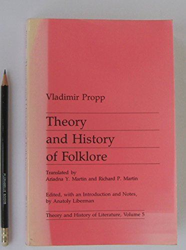 9780719014611: Theory and History of Folklore.