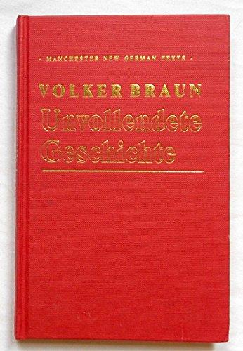 9780719029899: Unvollendete Geschichte (Manchester New German Texts)