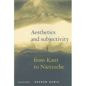 9780719040115: Aesthetics and Subjectivity: From Kant to Nietzsche