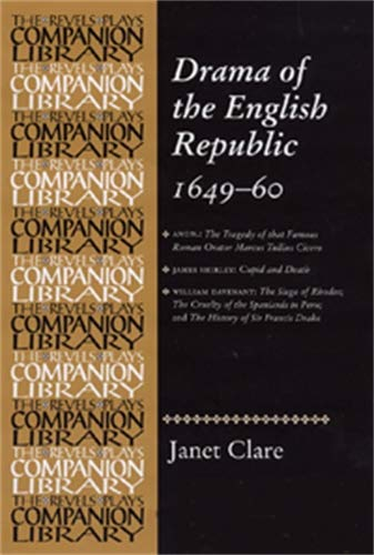 9780719044823: Drama of the English Republic, 1649-60