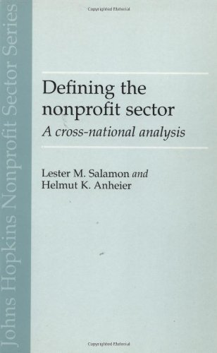 Defining the Nonprofit Sector: A Cross-National Analysis