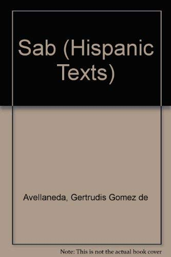9780719057052: Sab (Hispanic Texts)