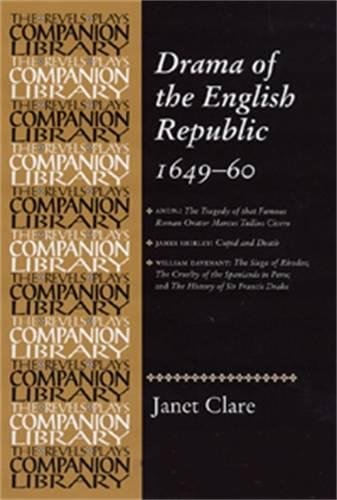 9780719073359: Drama of the English Republic, 1649-60
