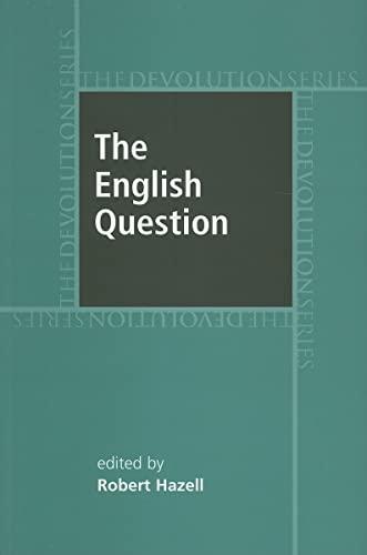 9780719073694: The English Question (Devolution Series MUP)