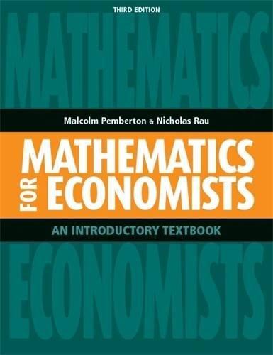 9780719087059: Mathematics for Economists