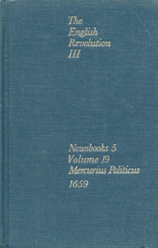 9780719130830: Mercurius Politicus 1659. The English Revolution III