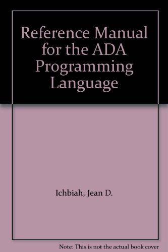 9780719400971: Reference Manual for the ADA Programming Language