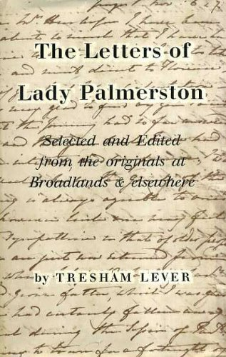 Letters: Lady Palmerston