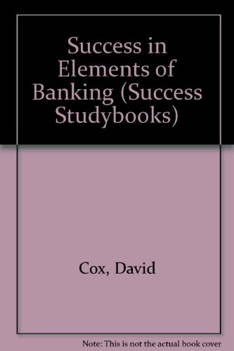 9780719537035: Success in Elements of Banking (Success Studybooks)