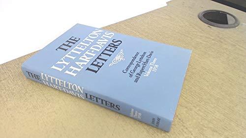 9780719537707: The Lyttelton Hart-Davis Letters: 1958 v. 3: Correspondence of George Lyttelton and Rupert Hart-Davis