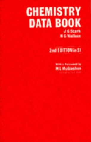9780719539510: Chemistry Data Book, Second Edition in SI