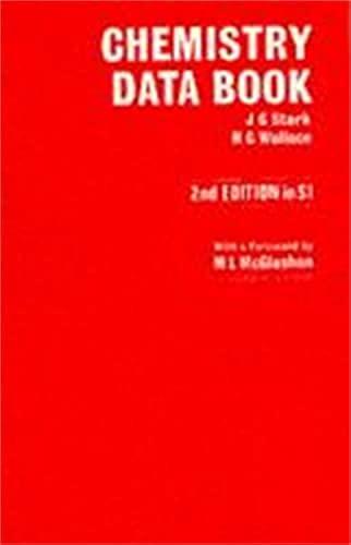 9780719539510: Chemistry Data Book