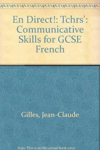 9780719543715: En Direct!: Tchrs': Communicative Skills for GCSE French
