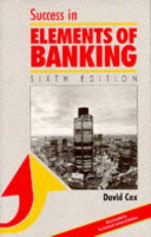 Success in Elements of Banking (Success Studybooks): Cox, David