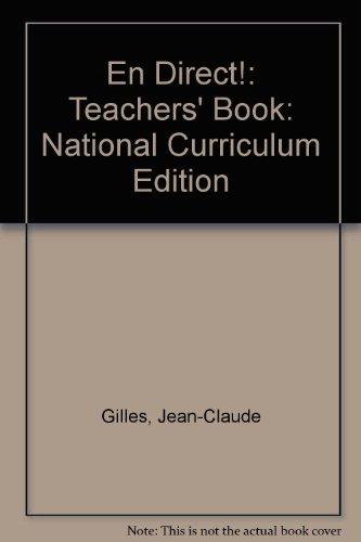 9780719551635: En Direct!: Teachers' Book: National Curriculum Edition