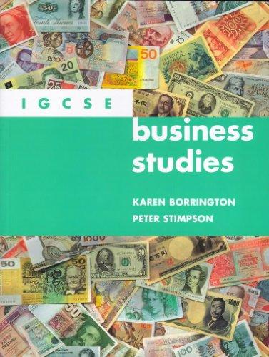 Igcse Business Studies Pb (International Gcse Syllabus): Karen Borrington