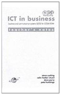 9780719572654: ICT in Business: Teacher's Notes: Business and Communication Systems GCSE for ICAA