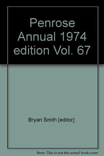 9780719825095: Penrose Annual 1974 edition Vol. 67