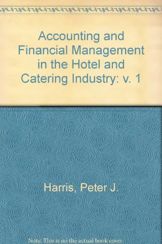 9780719826627: Accounting and Financial Management in the Hotel and Catering Industry: v. 1