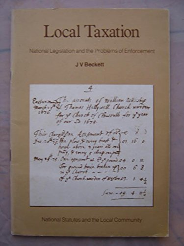 Local Taxation National Legislation and the Problems of Enforcement