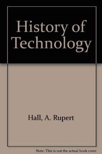 History of Technology: Vol. 4, 1979: Smith, Norman; Hall, A. Rupert (Eds.)