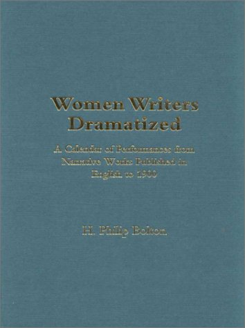 9780720121179: Women Writers Dramatized: A Calendar of Performances from Narrative Works Published in English to 1900 (Novels on Stage)