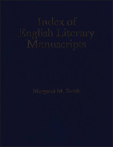 9780720122831: Index of English Literary Manuscripts, Vol. 3, 1700-1800, Part 4: Laurence Sterne-Edward Young
