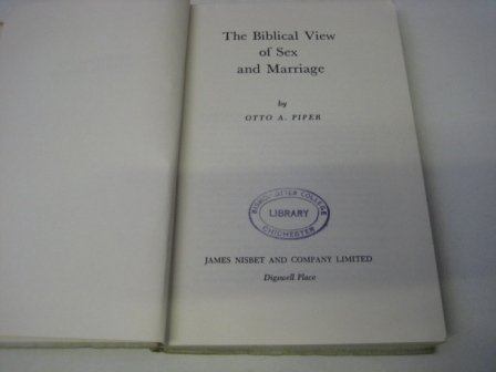 9780720200157: Biblical View of Sex and Marriage
